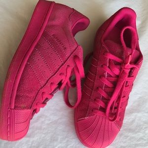 Adida Superstar Hot pink suede leather sneakers 7